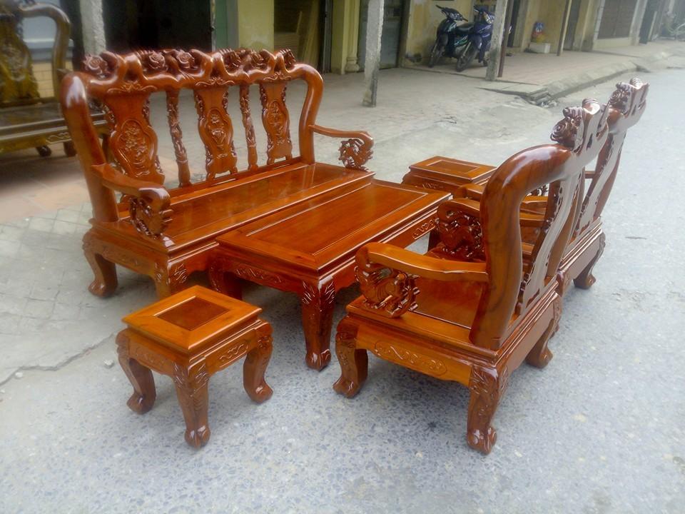 bàn ghế gỗ keo